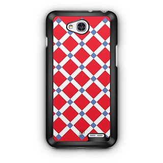 YuBingo Red Square Pattern Designer Mobile Case Back Cover for LG L90