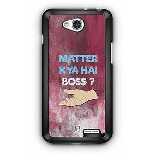 YuBingo What's the Matter, Boss? Designer Mobile Case Back Cover for LG L90