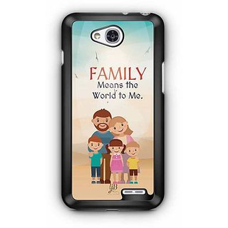 YuBingo Family Means the World To Me Designer Mobile Case Back Cover for LG L90