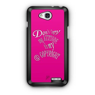 YuBingo Don't copy my attitude Designer Mobile Case Back Cover for LG L90