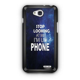 YuBingo Stop Looking at Me Designer Mobile Case Back Cover for LG L90