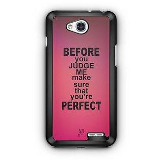 YuBingo Make sure you're perfect Designer Mobile Case Back Cover for LG L90