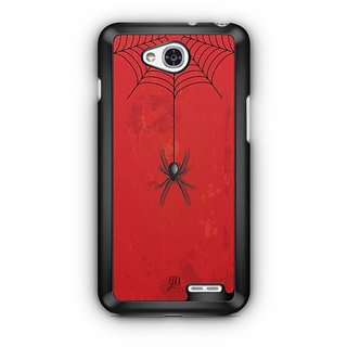 YuBingo Spider Hanging from Web Designer Mobile Case Back Cover for LG L90