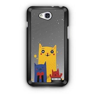YuBingo Family of Cats Designer Mobile Case Back Cover for LG L90