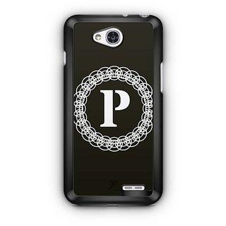 YuBingo Monogram with Beautifully Written letter P Designer Mobile Case Back Cover for LG L90