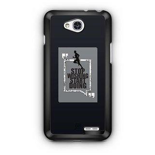 YuBingo Stop Wishing, Start Doing Designer Mobile Case Back Cover for LG L90