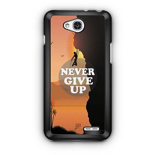 YuBingo Never Give Up Designer Mobile Case Back Cover for LG L90