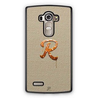 YuBingo Monogram with Beautifully Written Paint Finish letter R Designer Mobile Case Back Cover for LG G4