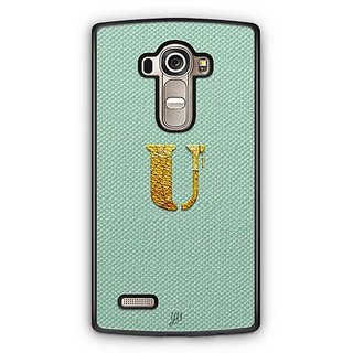 YuBingo Monogram with Beautifully Written Paint Finish letter U Designer Mobile Case Back Cover for LG G4