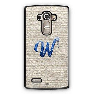 YuBingo Monogram with Beautifully Written Paint Finish letter W Designer Mobile Case Back Cover for LG G4