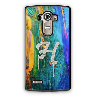 YuBingo Monogram with Beautifully Written Funky Colourful Paint Finish letter H Designer Mobile Case Back Cover for LG G4
