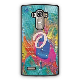 YuBingo Monogram with Beautifully Written Funky Colourful Paint Finish letter O Designer Mobile Case Back Cover for LG G4
