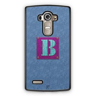 YuBingo Monogram with Beautifully Written Jeans and Girly Leather Finish letter B Designer Mobile Case Back Cover for LG G4