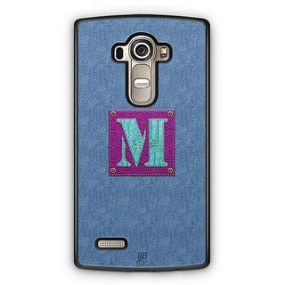 YuBingo Monogram with Beautifully Written Jeans and Girly Leather Finish letter M Designer Mobile Case Back Cover for LG G4