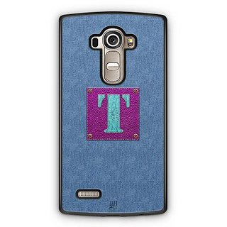 YuBingo Monogram with Beautifully Written Jeans and Girly Leather Finish letter T Designer Mobile Case Back Cover for LG G4