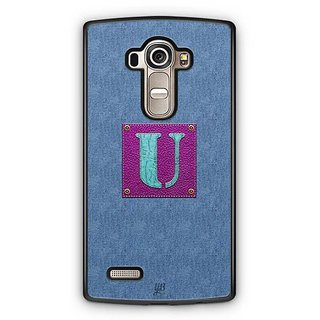 YuBingo Monogram with Beautifully Written Jeans and Girly Leather Finish letter U Designer Mobile Case Back Cover for LG G4