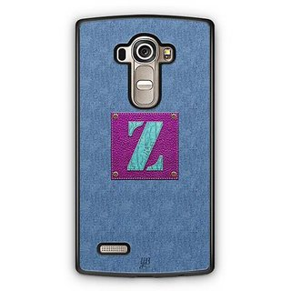 YuBingo Monogram with Beautifully Written Jeans and Girly Leather Finish letter Z Designer Mobile Case Back Cover for LG G4