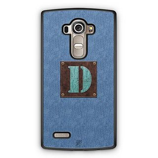 YuBingo Monogram with Beautifully Written Jeans and Macho Male Leather Finish letter D Designer Mobile Case Back Cover for LG G4