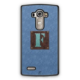 YuBingo Monogram with Beautifully Written Jeans and Macho Male Leather Finish letter F Designer Mobile Case Back Cover for LG G4