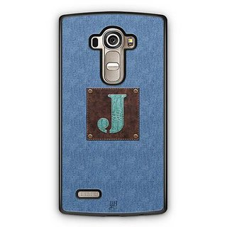 YuBingo Monogram with Beautifully Written Jeans and Macho Male Leather Finish letter J Designer Mobile Case Back Cover for LG G4