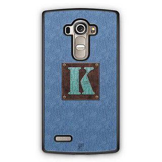 YuBingo Monogram with Beautifully Written Jeans and Macho Male Leather Finish letter K Designer Mobile Case Back Cover for LG G4