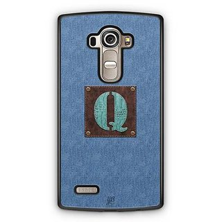 YuBingo Monogram with Beautifully Written Jeans and Macho Male Leather Finish letter Q Designer Mobile Case Back Cover for LG G4