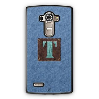 YuBingo Monogram with Beautifully Written Jeans and Macho Male Leather Finish letter T Designer Mobile Case Back Cover for LG G4