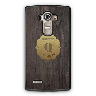 YuBingo Monogram with Beautifully Written Wooden and Metal (Plastic) Finish letter Q Designer Mobile Case Back Cover for LG G4