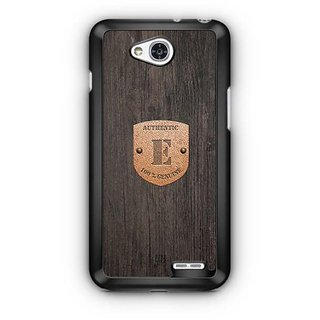 YuBingo Monogram with Beautifully Written Wooden and Metal (Plastic) Finish letter E Designer Mobile Case Back Cover for LG L90