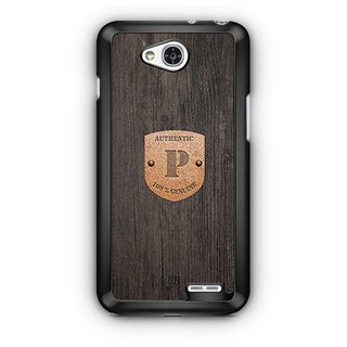 YuBingo Monogram with Beautifully Written Wooden and Metal (Plastic) Finish letter P Designer Mobile Case Back Cover for LG L90