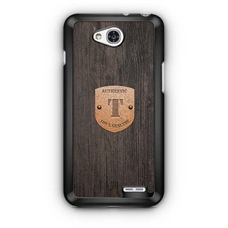 YuBingo Monogram with Beautifully Written Wooden and Metal (Plastic) Finish letter T Designer Mobile Case Back Cover for LG L90