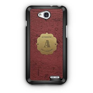YuBingo Monogram with Beautifully Written Wooden and Metal (Plastic) Finish letter A Designer Mobile Case Back Cover for LG L90