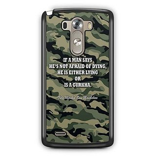 YuBingo Indian Army Quote Designer Mobile Case Back Cover for LG G3