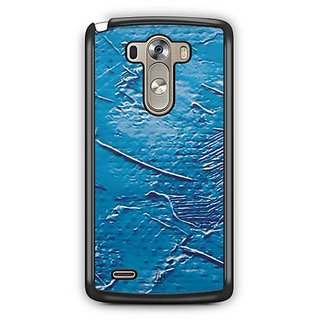 YuBingo Blue Oil Paint Designer Mobile Case Back Cover for LG G3