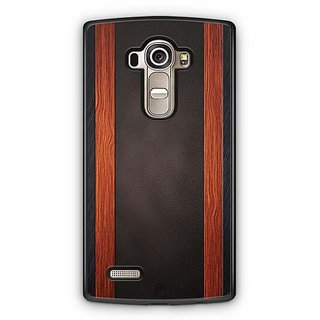 YuBingo Leather and Wood Finish (Plastic) Designer Mobile Case Back Cover for LG G4