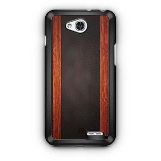 YuBingo Leather and Wood Finish (Plastic) Designer Mobile Case Back Cover for LG L90