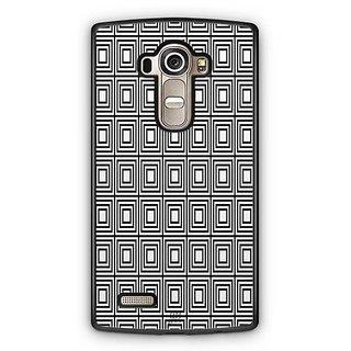 YuBingo Black rectangle pattern Designer Mobile Case Back Cover for LG G4