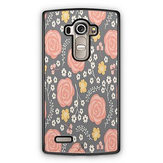 YuBingo Orange flower and leaf pattern Designer Mobile Case Back Cover for LG G4