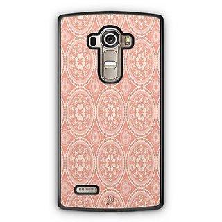 YuBingo Orange and white rangoli design Designer Mobile Case Back Cover for LG G4