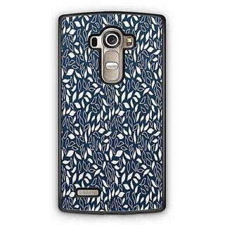 YuBingo Blue White Leaves pattern Designer Mobile Case Back Cover for LG G4