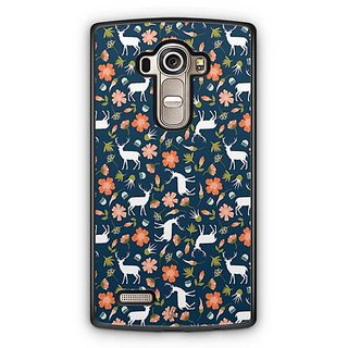 YuBingo Deer and flowers pattern Designer Mobile Case Back Cover for LG G4