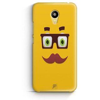 YuBingo Smiley with Glasses and Moustache Designer Mobile Case Back Cover for Meizu M3