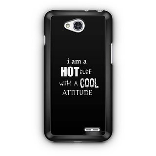 YuBingo Hot Dude with Cool Attitude Designer Mobile Case Back Cover for LG L90