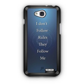 YuBingo Rules Follow Me Designer Mobile Case Back Cover for LG L90