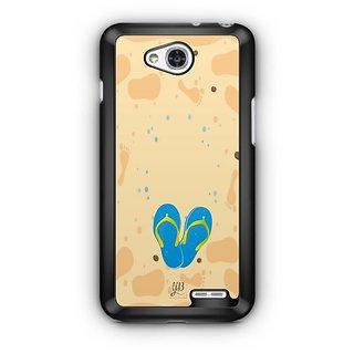 YuBingo Slippers on Beach Designer Mobile Case Back Cover for LG L90