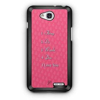 YuBingo 1 Thing, 2 Do, 3 Words, 4 You Designer Mobile Case Back Cover for LG L90