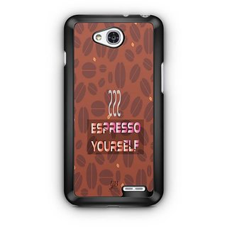 YuBingo Espresso Yourself with Coffee Designer Mobile Case Back Cover for LG L90
