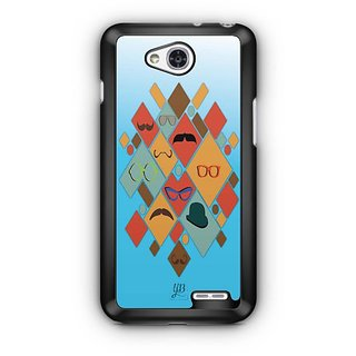YuBingo Glasses & Moustaches Designer Mobile Case Back Cover for LG L90