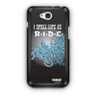 YuBingo I spell Life as R.I.D.E. Designer Mobile Case Back Cover for LG L90