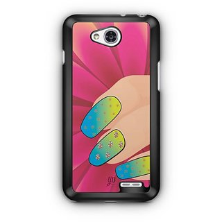 YuBingo Colourful Nails Designer Mobile Case Back Cover for LG L90